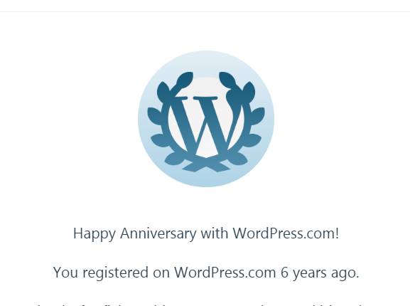 6 Years of Blogging: A Flashback